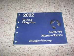 2002 ford f750 electrical wiring diagram manual 6 7l 7 3l v8 v10 ebay rh ebay com