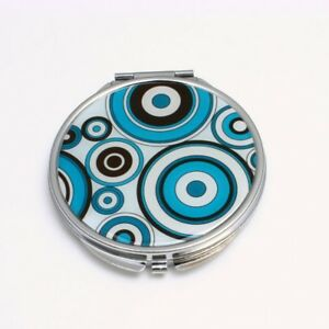 Compact-Mirror-Retro-Circles-Stainless-Steel-Small-makeup-mirror-for-your-purse