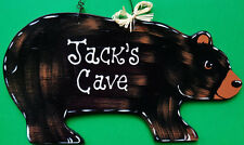 BEAR CAVE Personalize Name SIGN Camper Camp Den Door Boy Wall Kids Room Plaque