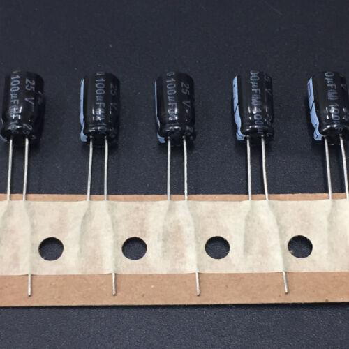 10pcs 100uF 25V100UF 6.3X11mm NIC NRSS standard electrolytic Capacitor