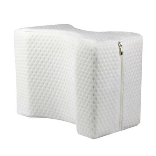 Comfort Contour Memory Foam Leg Pillow Relief Back Hip Pain Knee Support Cover