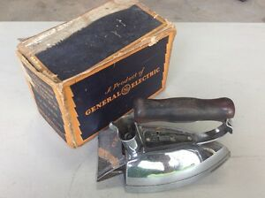 "General Electric GE Model ""R"" Electric Iron & Box"