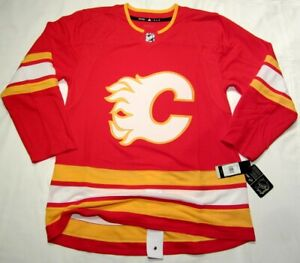 Details about CALGARY FLAMES size 46 Small 2021 home Adidas Aeroready HOCKEY JERSEY Authentic