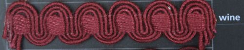 choice of 16 colours Gimp Braid  15mm wide upholstery craft