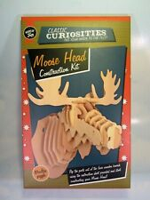 Classic Curiosities Moose Head Construction Kit Wooden Puzzle 3d