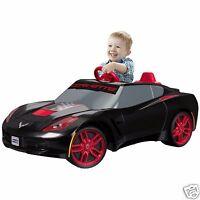 Ride On Sports Car Fisher Price Power Wheels Corvette 6v Battery Toy Boys Black