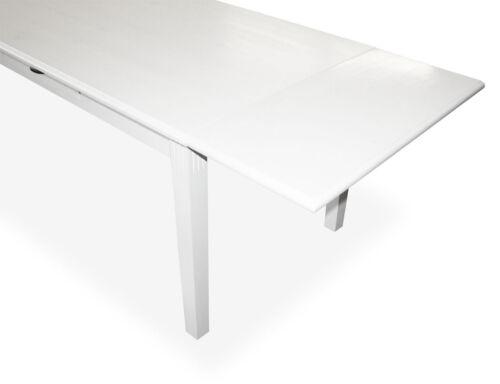 KMH® Ansteckplatte Tischverlängerung Verlängerung für Esstisch Massivholz weiss