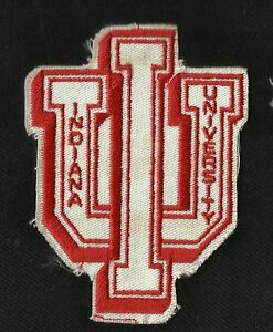 quality design 439af 0f3d9 Image is loading Vintage-70s-Indiana-University-College-NCAA-Sports-Patch-