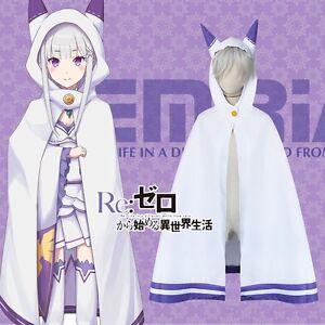 ... Zero-kara-Hajimeru-Isekai-Seikatsu-Emilia-Cosplay-Cat-Ears-Cloak-Cape