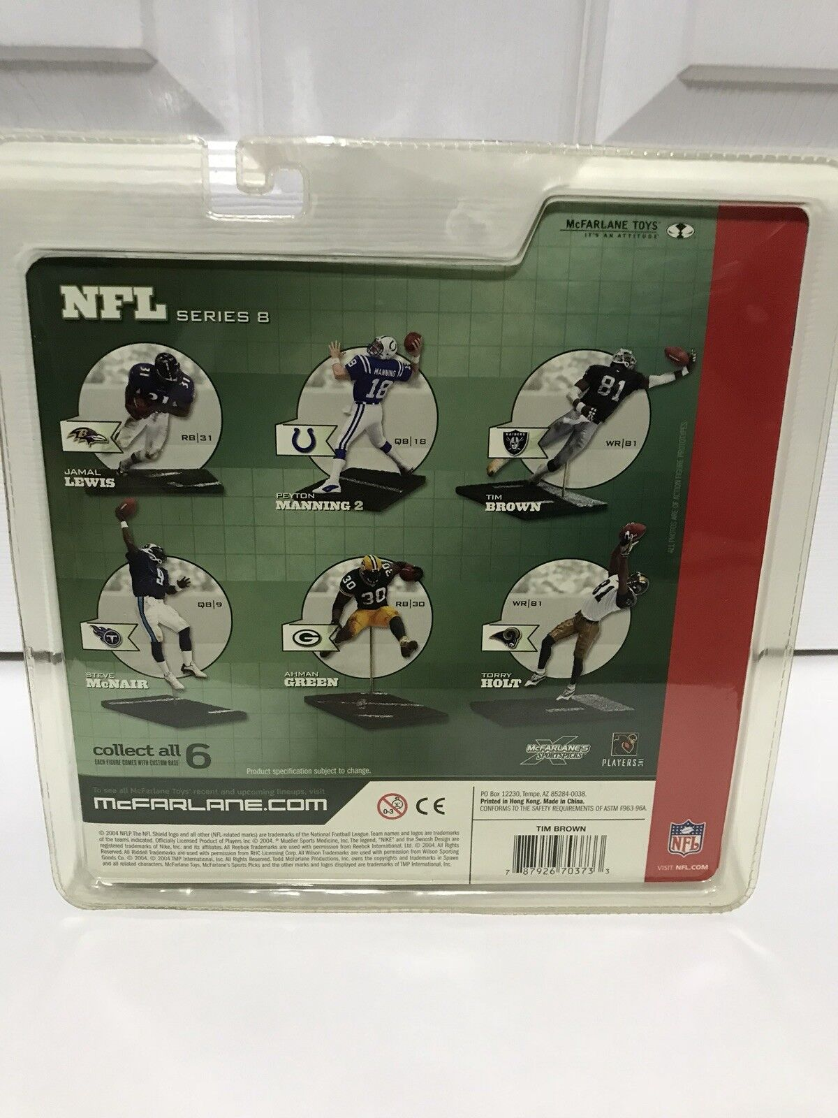 Mcfarlane NFL NFL NFL Series 8 Tim Brown (White Jersey) Oakland Raiders Autographed 8baa43