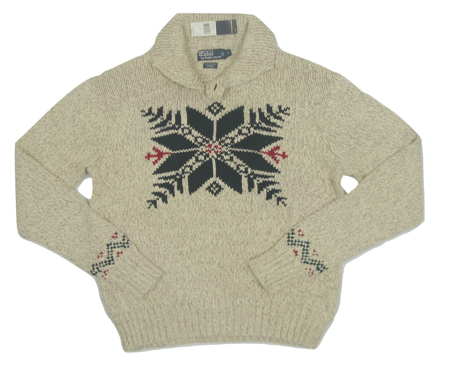 NEW  Polo Ralph Lauren Snowflake Design Sweater   Huge Snowflake on Front
