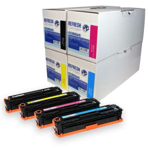 REFRESH CARTRIDGES CB540A CB541A CB542A CB543A TONER COMPATIBLE WITH HP PRINTERS