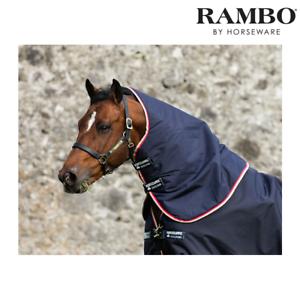 Horseware Rambo Duo Rug Hood (Navy Beige White Red) FREE UK Shipping