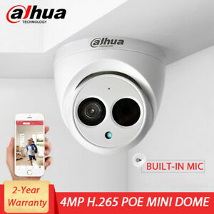 DAHUA HD 4MP POE HOME SECURITY INDOOR MINI DOME CAMERA BUILT-IN MIC