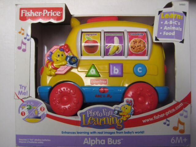 Fisher Photo Fun Learning Alpha Bus | eBay