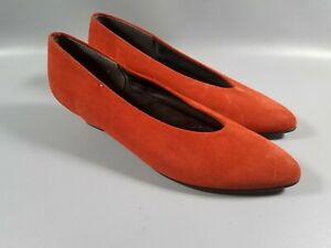 Vintage Deep Rust Orange Suede Shoes Small Heel Low Uk 5 Retro Shoes Autumn Ebay