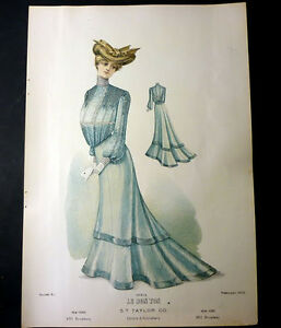 Moda-Donna-Figurino-Le-Bon-Ton-New-York-N-913-1902
