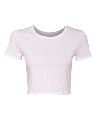 Bella Ladies Crop Top 6681 XS//S M//L Cotton//Polyester Crop Tee NEW