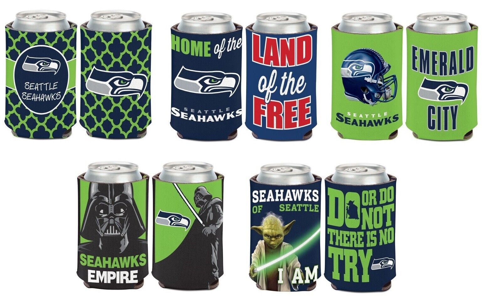 Seattle Seahawks Vintage Tin Coolers NFL Football Can Cooler