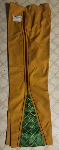 Vintage Yellow Bell Bottom Pants Pants Embroidered