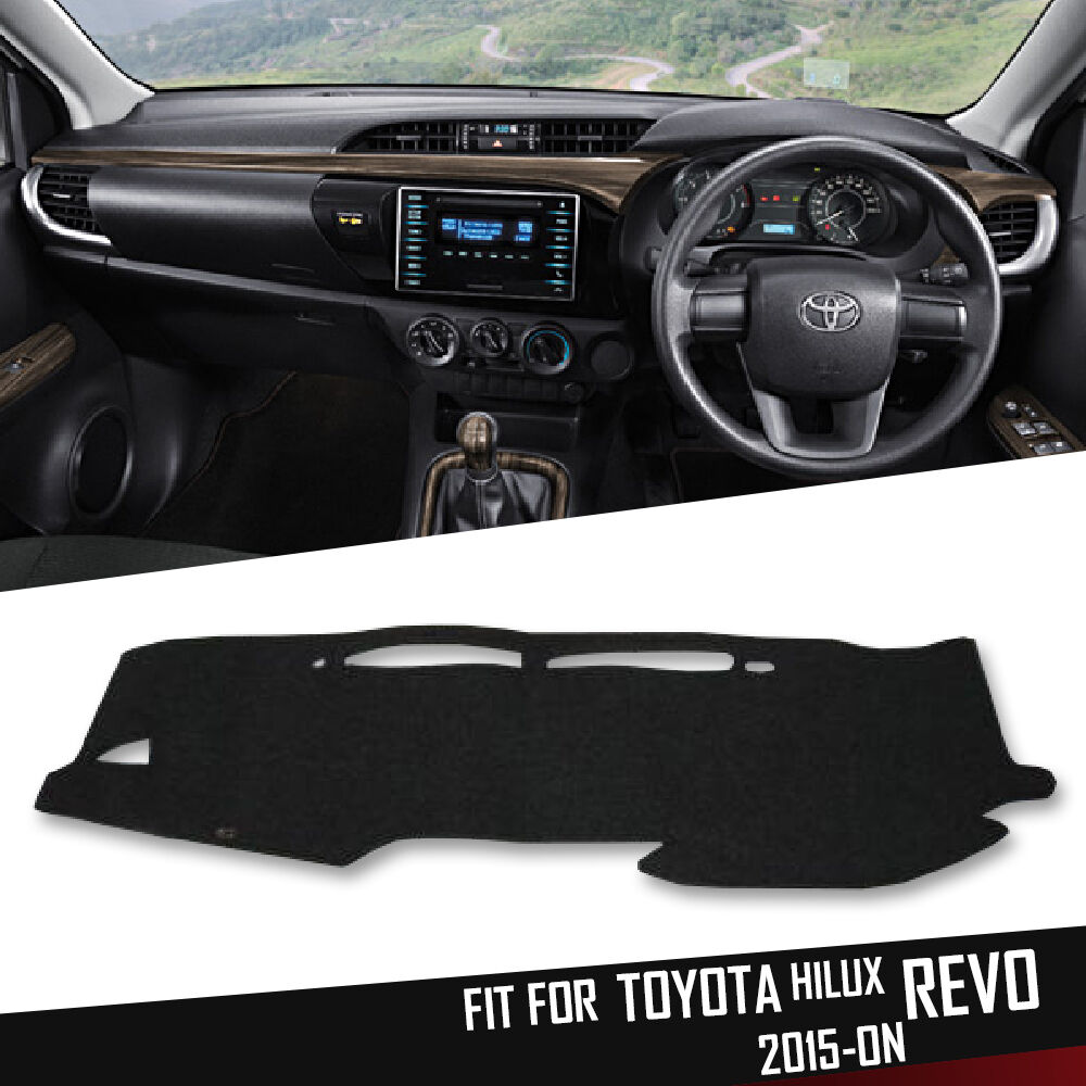 Dark Gray Dash Mat Cover Fully Moulded For Toyota Hilux Revo Sr5 M70 1998 Jeep Wrangler Pad M80 2015 On