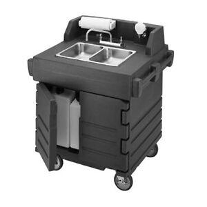 Cambro Ksc402192 2 Compartment Camkiosk Hand Sink Cart