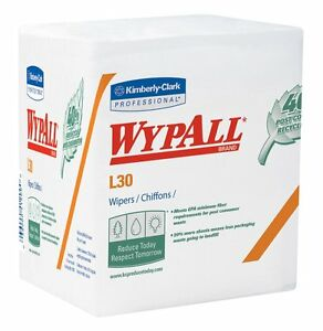 Lot of 2! Kimberly-Clark Professional Wypall L30 Wipers, White *FREE SHIPPING!!*
