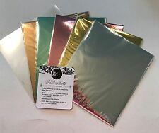 Minc. Foil Sheets 12 Foils 5 colors 1 transfer folder Heidi Swapp Anna Griffin