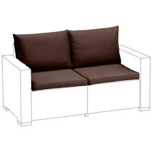 Brown Replacement 4pc Cushion Set for Keter Allibert California Small Sofa