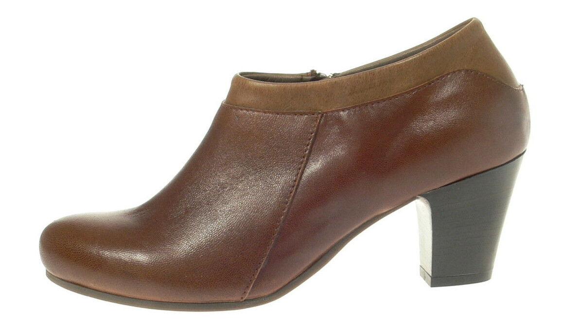 LILIMILL Damenschuhe Ankle Stiefel GIUSY braun 5639 tequlia cognac Echtleder Pumps