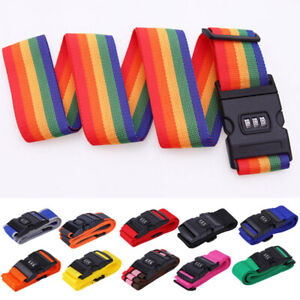 Travel-Password-Luggage-Suitcase-Strap-Baggage-Backpack-Bag-Rainbow-Safe-Belt