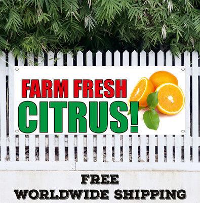 FARM FRESH PEACHES Advertising Vinyl Banner Flag Sign Many Sizes Available