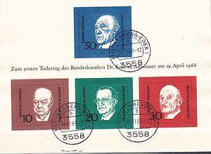 Brd-Block-4-gestempelt-10-mal-034-1-Todestag-Dr-Konrad-Adenauer-034