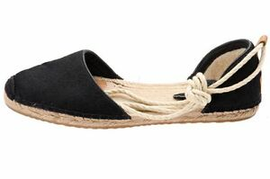 Libby 6 Hair 737045372440 D'orsay New Black Authentic Espadrille Australia Calf Ugg Flat 1ppwxU