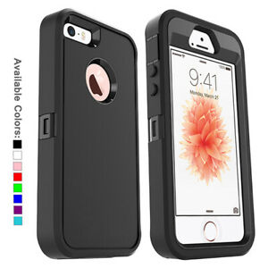 For Apple iPhone SE 2020 Case w/ Screen Protector Series Fits defender Belt Clip