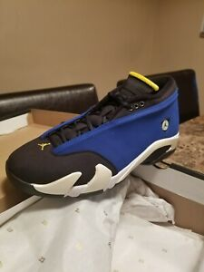 81d9f007425 Nike Air Jordan 14 Retro Low Laney Royal Blue Size 11 | eBay