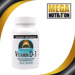 Source-Naturals-Vitamin-D3-1000IU-200-Tablets-Bone-amp-Immune-Health
