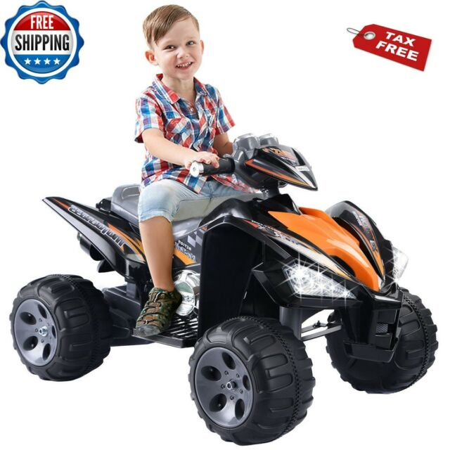 Electric Cars For Kids To Ride On Power Wheels Quad Toy 12v Battery 4wd Offroad