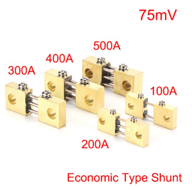 75mV Shunt Resistor FOR DC Current Meter Amp Analog Panel Ammeter 400A