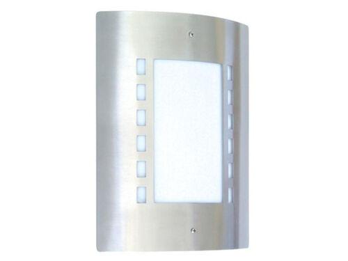 Ranex Messina Außenwandleuchte Edelstahl E27 IP44 Aussenleuchte Wandlampe Wand