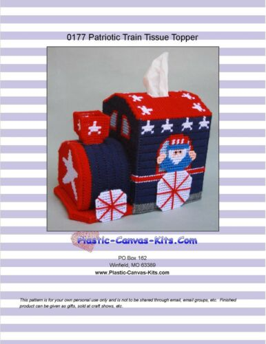 Patriotic Train Uncle Sam-Indenpendence Day-Plastic Canvas Pattern or Kit