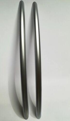 2PCS Brushed Steel Handle Kitchen Bathroom Cupboard Cabinet Door without screws