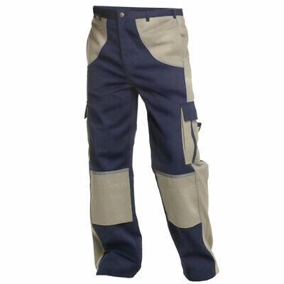 Charlie Barato® Arbeitshose Herren Premium Line Blau/beige