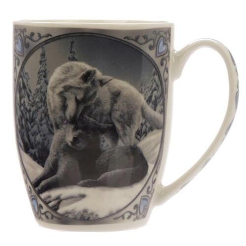 Lisa Parker Snow Kisses Wolf Design Porcelain Mug Gift//Stocking Filler