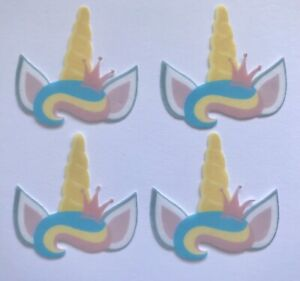 20 PRE CUT Unicorn Horn And Ears Edible Wafer Paper ...
