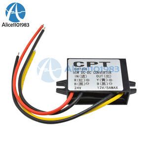 10pcs 24V to 12V 5A 60W DC DC Converter Car Step Down Power Voltage Reducer US