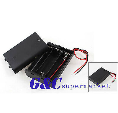 Plastic Battery Storage Case Box Holder For3 X AA 3xAA 4.5V+ wire leads