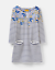 JOULES Quinn Tunic Dress Navy Floral Border Sz 18 RRP£39.95Free UK P/&P