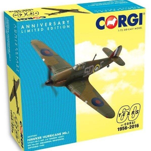 Corgi 1 72nd Scale Hawker Hurricane Mk.I V7357 SD-F SD-F SD-F Corgi 60th Diecast Model. d14d32