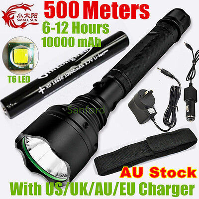500 METER 2000 LUMEN TACTICAL CREE XML T6 LED TACTICAL FLASHLIGHT 18650 TORCH BD